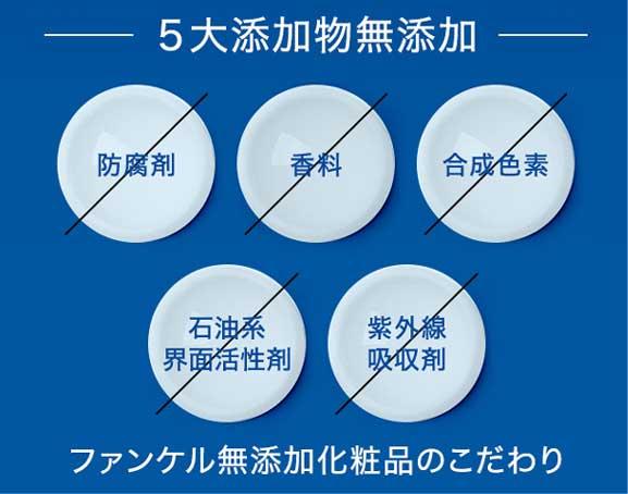 5つの無添加