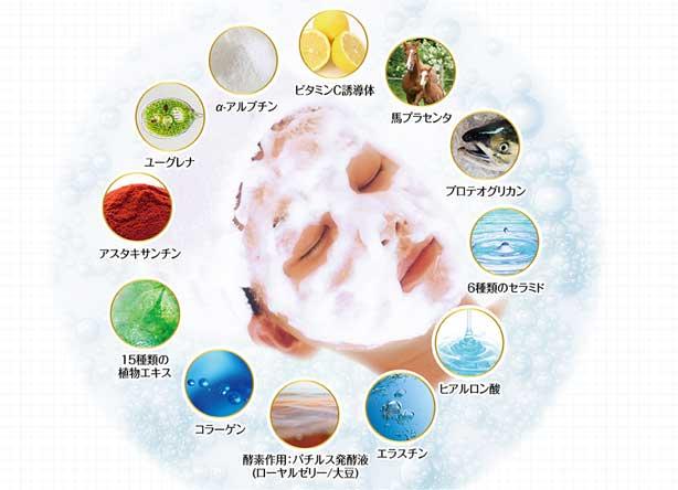 43種類の美容成分を配合