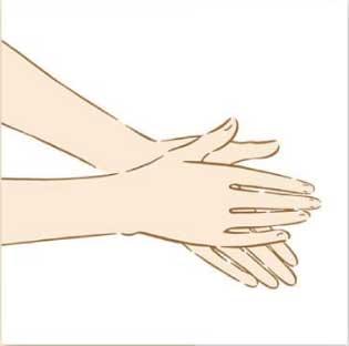 手に取り温める