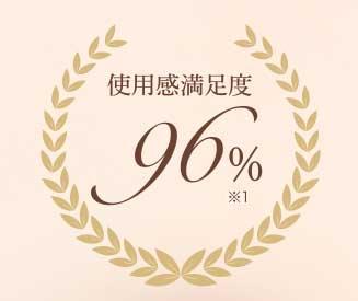 使用感満足度96%