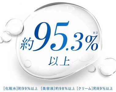 美容成分約95.3%以上