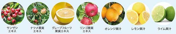 7種類のフルーツ由来成分