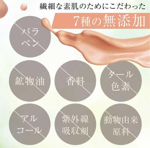 7種の無添加処方