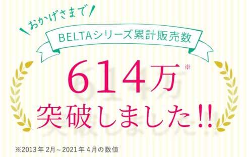 ベルタシリーズ累計販売数614万突破