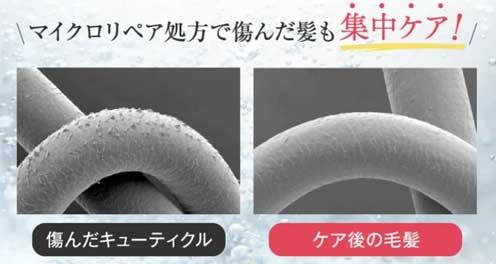 マイクロリペア処方で髪のダメージケア