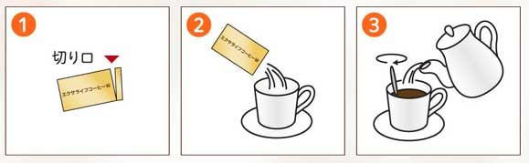 エクサライフコーヒーWの飲み方